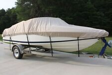 NEW VORTEX COMBO PACK HEAVY DUTY TAN/BEIGE 16 17 17.5' BOAT COVER+SUPPORT SYSTEM