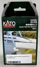 """N Scale Double Track Poured Concrete Pier 50mm (2"""") - Pack of 6  - Kato #23-019"""