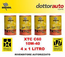 KIT OLIO MOTORE AUTO BARDAHL XTC C60 10W40 4 LITRI 4LT TAGLIANDO
