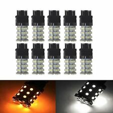 10Pcs 3157 60SMD White Amber Yellow Dual Color Switchback LED Bulbs Car Turn 12V
