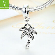 Hot Sale Sparkling Bow Palm Tree Charms Beads Fit Women 925 DIY Bracelets, Chain
