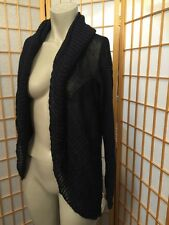 Vince Blue Knit Linen Cardigan Sweater Jacket  Womens Size L