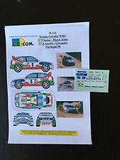 DECALS 1/43 TOYOTA COROLLA WRC AURIOL RALLYE PORTUGAL 1998 WRC RALLY PORTUGHESE