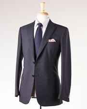 NWT $6100 BRIONI 'Brunico' Charcoal Fine-Stripe Wool Suit Slim 42 R Year-Round