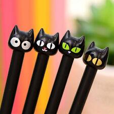 4 Pcs Black Cat Gel Pen Kawaii Stationery Creative Gift School Supplies 0.5mm