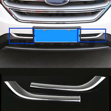 Frone Bumper Grill Trim 2pcs ABS Chromed for Ford Edge 2015-2016