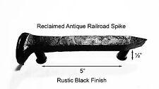 """5"""" Left Black Railroad Spike Door Handle Pull Gate Antique Vintage"""