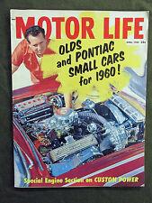 MOTOR LIFE 1959 APRIL VINTAGE CAR MAGAZINE OLDS PONTIAC ENGINE SECTION Al Bundy