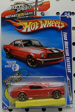 FORD MUSTANG 1964 1965 65 2010 132 KEY CHAIN FASTBACK RED PONY CAR HW HOT WHEELS