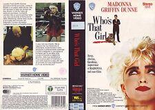 WHO'S THAT GIRL (1987) VHS ORIGINALE 1ª EDIZIONE 1988