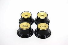 4X BLACK GOLD VOLUME & TONE TOP HAT KNOB GIBSON EPIPHONE STYLE - CTS BOURNS