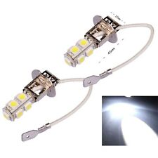 2Pcs New Super Bright H3 9 LED SMD Car Xenon White Parking Head Light Lamp Bulbs
