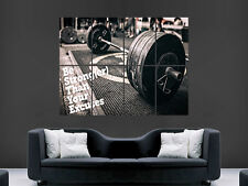WEIGHTLIFTING MOTIVATION POSTER WALL ART GYM FITNESS WEIGHTS  IMAGE GIANT