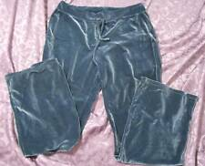 Gorgeous DKNY Smoke Blue Velour Lounge Pants LARGE New/Tags MSRP: $105