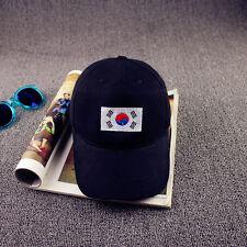 New Men Korean Flag Peak Hat Hip Hop Kpop Curved Strapback Snapback Baseball Cap