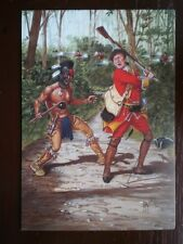 POSTCARD AMERICAN-INDIAN WARS - A HURON WARRIOR - 44TH REGT OF FOOT 1755