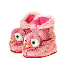 Penguin Boots Indoor Plush Bootie Slippers Shoes Child - One Size Pink NEW