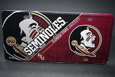 FSU METAL ALUMINUM CAR LICENSE PLATE TAG FLORIDA STATE UNIVERSITY SEMILONES