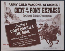 Cody of the Pony Express -  Classic Cliffhanger Movie Serial DVD Jock O'Mahoney