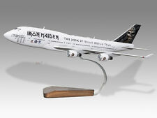 Boeing 747-400 Iron Maiden Book of Souls 2016 Solid Wood Desktop Airplane Model