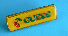 Vintage Promotional Metal Badge/Lapel Pin  - GUESS  (Clothing ?) with Cherries