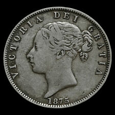 1875 Queen Victoria Young Head Silver Half Crown – AVF