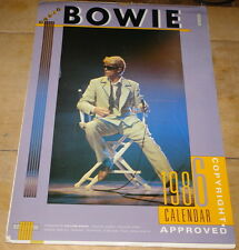 DAVID BOWIE TWO 1986 CALENDARS ~ ONE INCOMPLETE ~ ONE COMPLETE