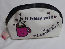 Authentic Betsey Johnson Is It Friday Yet Makeup Cosmetic Bag NWT