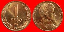 1 PESO 1990 SIN CIRCULAR CHILE-0064SC