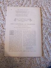 1907 Original in Century Magazine Joseph Pennel Prints 'Chartres Cathedrals'