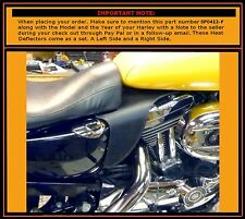 Harley saddle shield Sportster Motorcycle V-Twin HEAT Deflectors  Made in USA