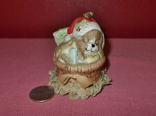 Vintage Jasco Porcelain CHRISTMAS PUPPY DOG in BASKET BELL Taiwan