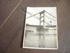 PHOTO 1931 CONSTRUCTION DU PONT DU TEIL RHONE BRIDGE DEPART TRONCON