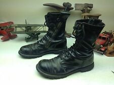 BLACK CORCORAN DISTRESSED USA MILITARY LACE UP ENGINEER JUMP BOSS BOOTS 13 M