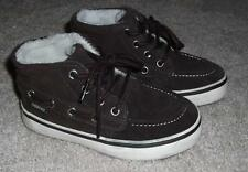 BOYS BROWN SUEDE LACE UP SHOES TODDLER SIZE 8 - BRAND NEW