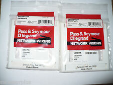 Pass & Seymour Legrand PS262-W Double Gang White Decorator Faceplate, Qty.2, New
