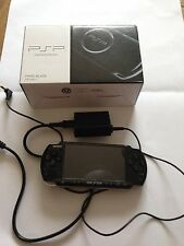 SONY Playstation Portable PSP Console PSP-3000 Piano Black w/ adapter and BOX