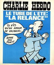 """""""CHARLIE HEBDO N°246 du 31/7/1975"""" WOLINSKI : LE TUBE DE L'ETE """"LA RELANCE"""""""
