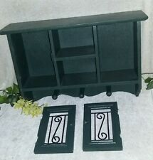 Vintage Wood Cabinet Wall Mount Hanging Display Case