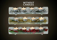 Attractive Glass Christmas Table Decoration Tea Light Holders with Xmas Branch