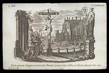 santino incisione 1700 S.GIOVANNI GUALBERTO  klauber