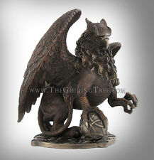 "Celtic Griffin Clutching Ball ~ Beautiful Cold Cast Bronze Statue ~ 9.5"" x 12"""