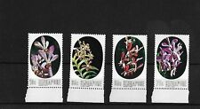 SINGAPORE 1976 ORCHIDS, MNH, SG272/5, CAT £16.25
