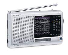 Sony ICF SW11 FM Radio,SW 1-9/MW/LW 12 Band Receiver,Tuning Indicator (Silver).