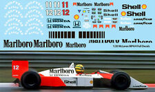 1/20  McLaren MP4/4 FULL  FOR TAMIYA  AYRTON SENNA PROST DECALS TB DECAL  TBD66