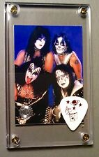 KISS Ace Frehley white Farewell tour guitar pick / Reunion group card display!