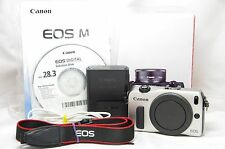 Canon EOS M 18.0 MP Digital SLR Camera Silver Body Only SN021282200987 *Boxed*
