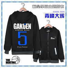 Anime Cosplay Costume Coat Top Hoodied  Kuroko no Basuke basket aomine daiki