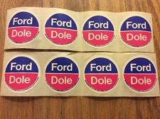 8 Official 1976 Gerald Ford For President & Bob Dole Circular Lapel Stickers