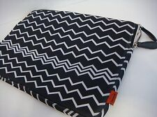 MISSONI FOR TARGET 15 INCH LAPTOP SLEEVE BLACK WHITE ZIG ZAG TRAVEL BAG